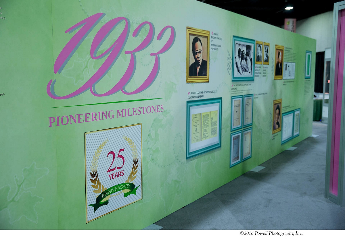 "11 - ""Pioneering Milestones"" wall"