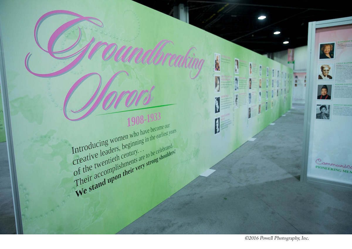 "44 - ""Groundbreaking Sorors"" wall"